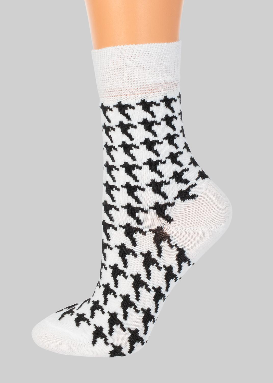 Носки женские носки с черно-белым паттерном cl-0102