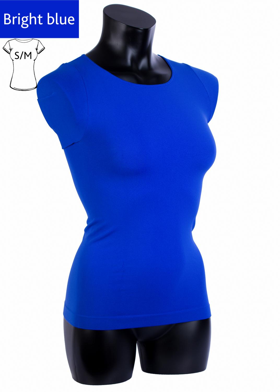 Футболки женские T-shirt scollo tondo manica corta вид 8