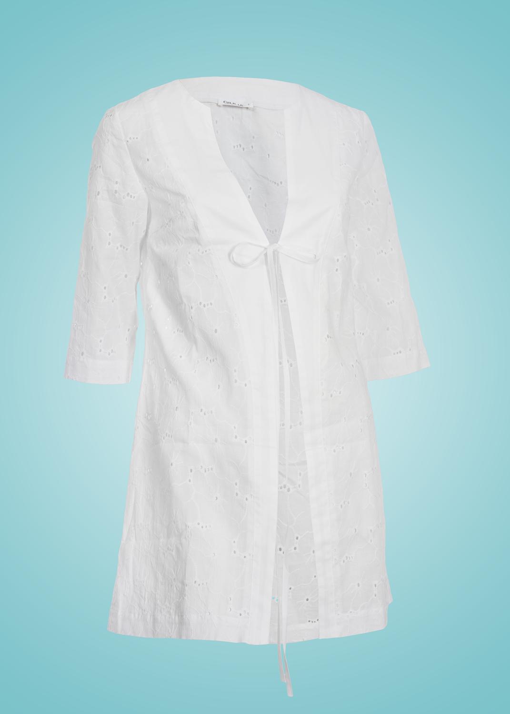 Пляжная одежда туника-рубашка white lara