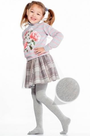 Теплые детские хлопковые колготки TM GIULIA D025 KIDS CLASSIC MELANGE