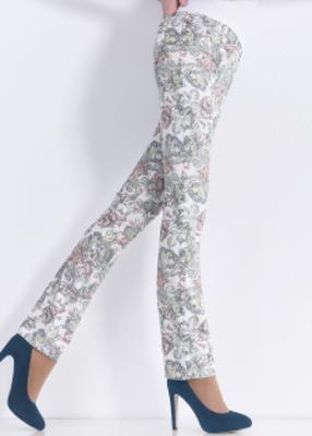 леггинсы с цветочным принтом в ярких оттенках TM GIULIA FLORET