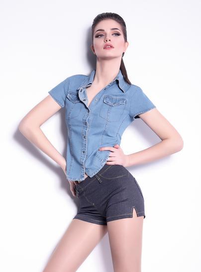 Шорты женские SHORTS MINI JEANS model 4- купить в Украине в магазине kolgot.net (фото 1)