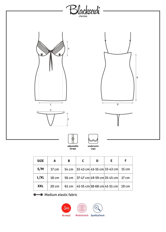 Эротическое белье Blackardi chemise вид 5