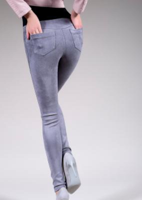 леггинсы с имитацией замшевой ткани LEGGY FASHION