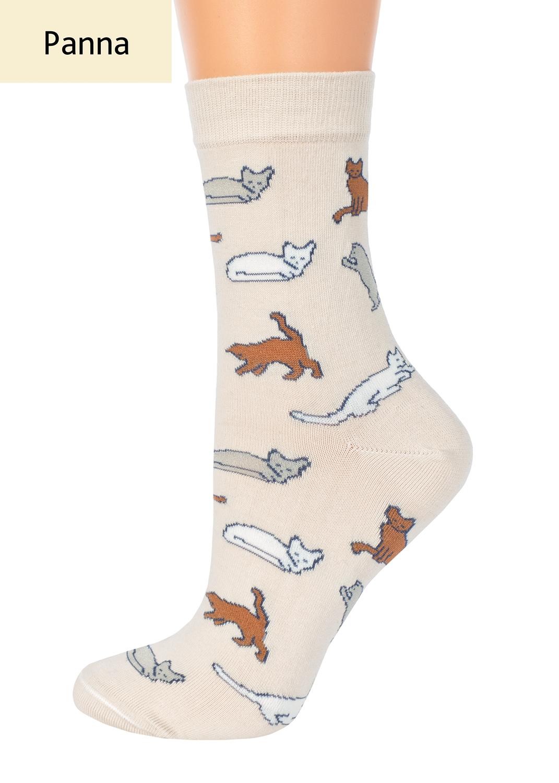 Носки женские носки с кошкам и котами cl-07 вид 1