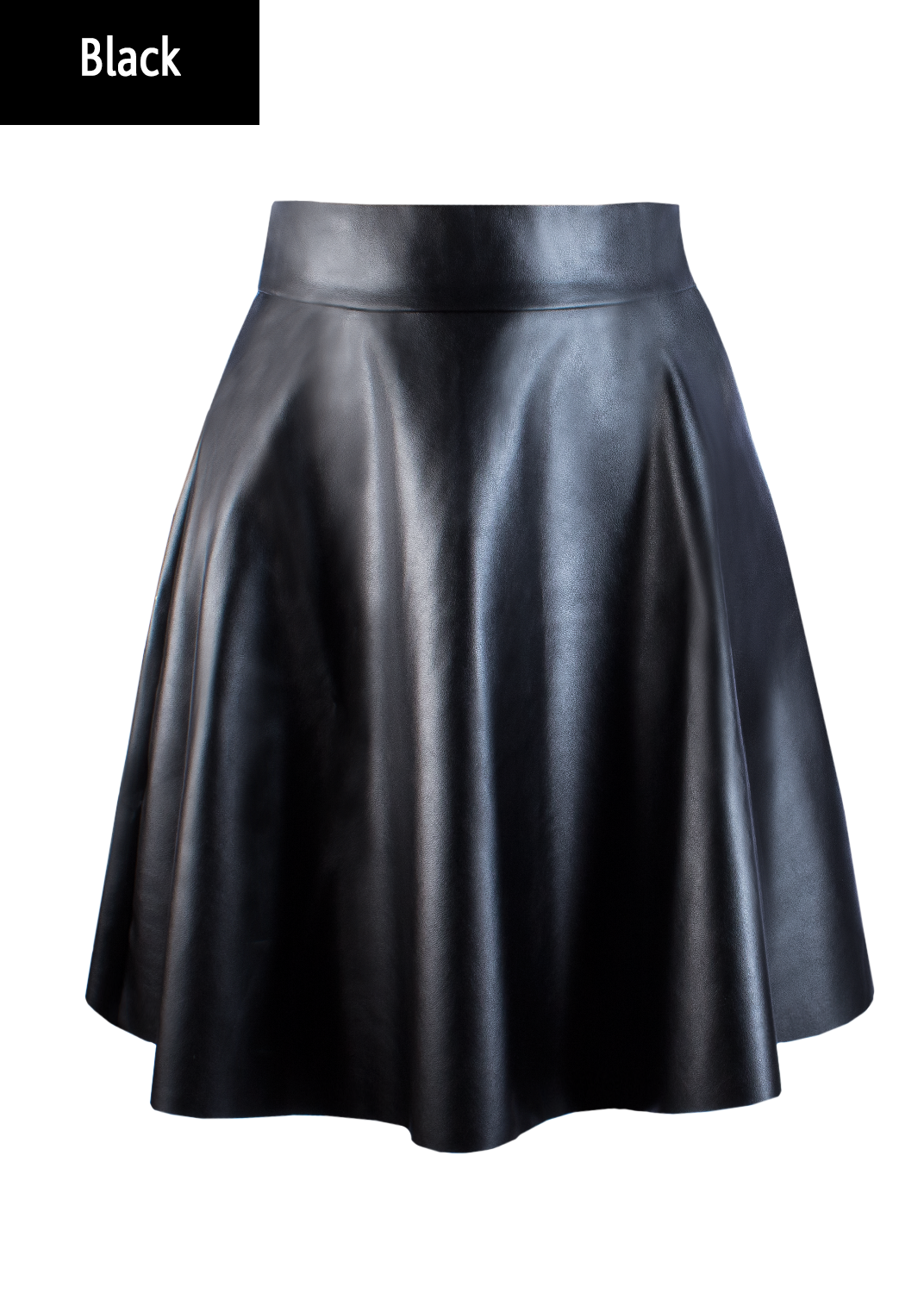 Юбки Mini skirt leather model 1 вид 4