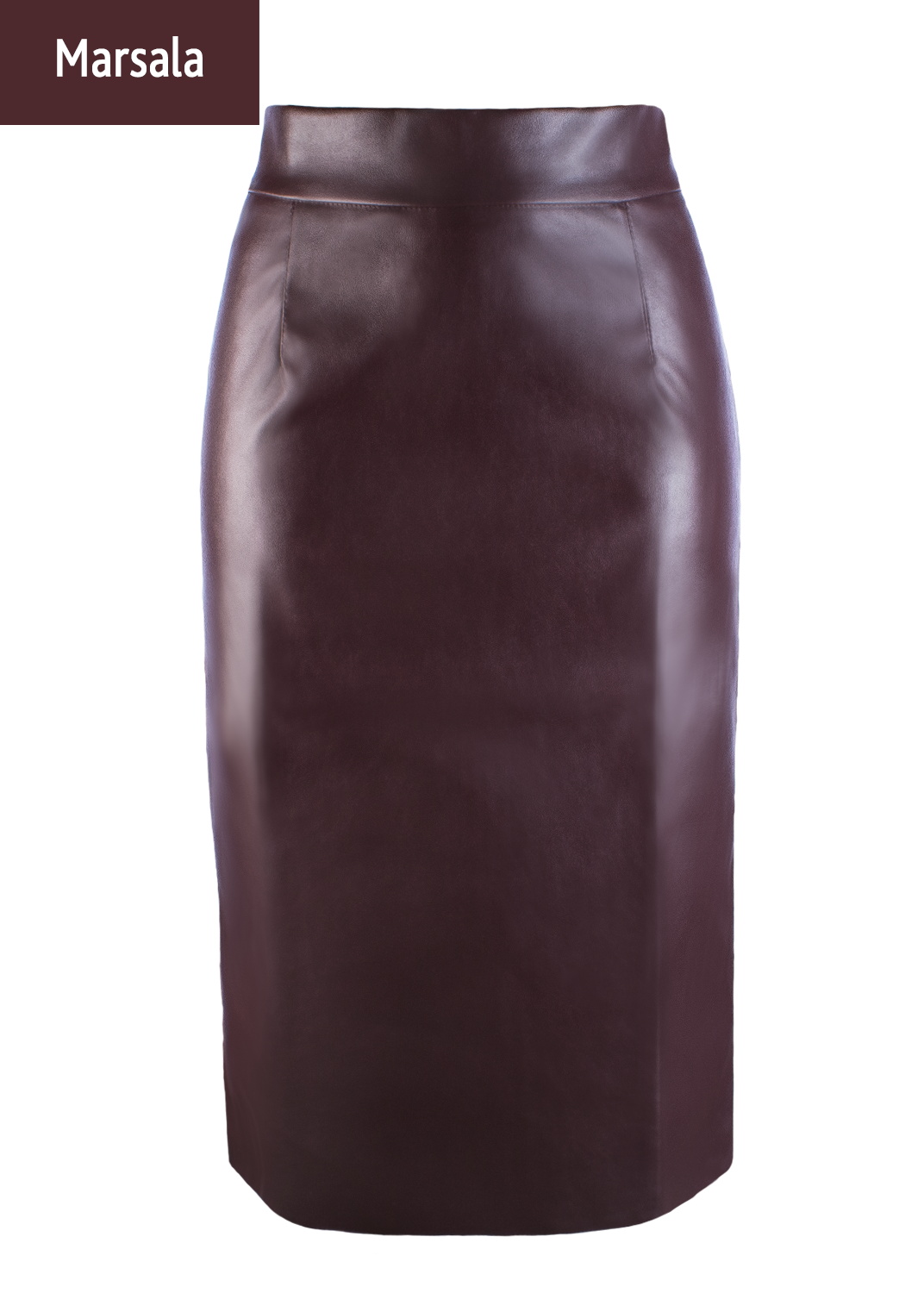 Юбки Pencil skirt leather model 1 вид 2