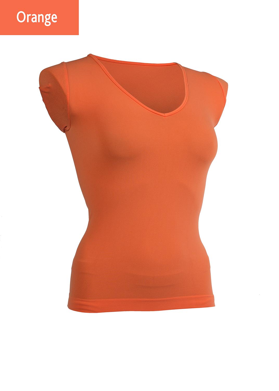 Футболки женские T-shirt scollo v manica corta вид 6