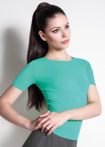 Футболки женские T-shirt SCOLLO TONDO MANICA CORTA LIGHT Футболка с круглым вырезом и коротким рукавом- купить в Украине в магазине kolgot.net (фото 1)