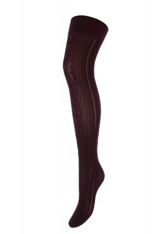 Панчохи-ботфорти з дірчастим геометричним візерунком TM GIULIA ANITA UP 100