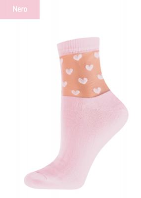 Жіночі шкарпетки з сердечками TM GIULIA WSM-008 calzino