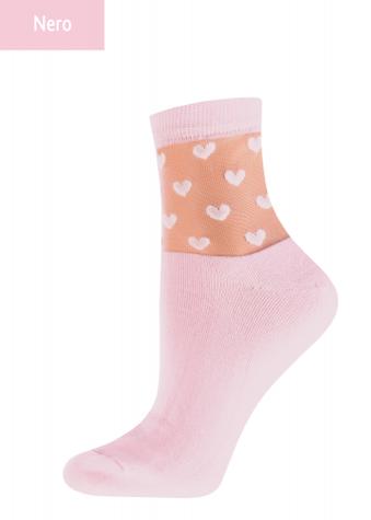 Женские носки с сердечками TM GIULIA WSM-008 calzino
