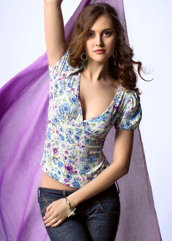 Домашняя одежда блузка 6036 вид 4