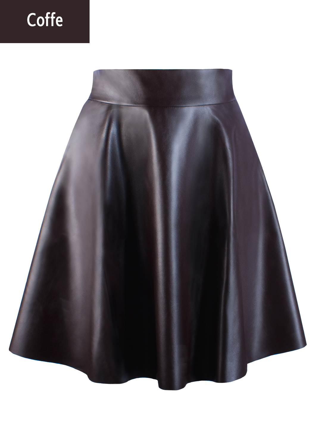 Юбки Mini skirt leather model 1 вид 3