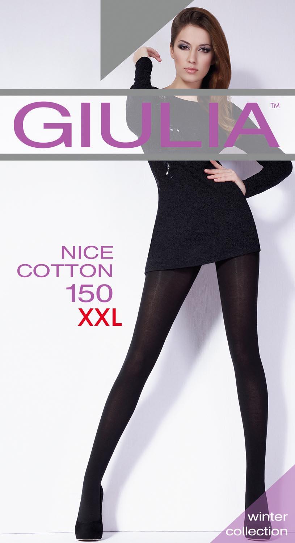 Теплые колготки Nice cottone 150 xxl