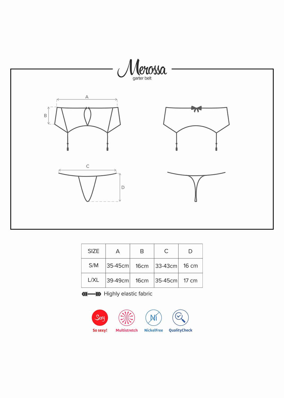 Эротическое белье Merossa belt вид 6
