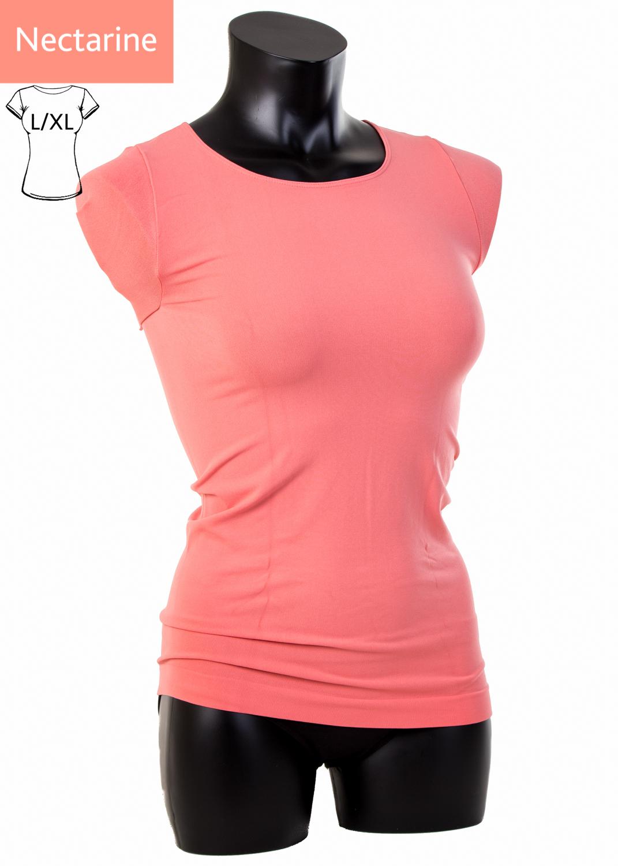 Футболки женские T-shirt scollo tondo manica corta вид 2