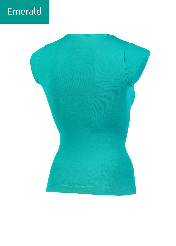 Футболки женские T-shirt scollo v manica corta вид 1