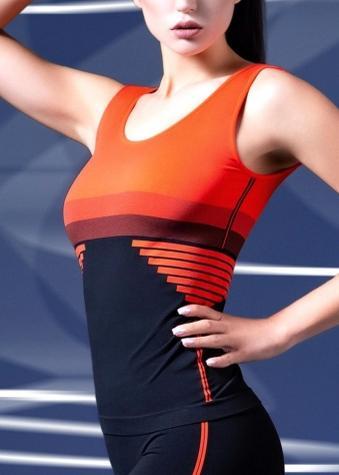 Спортивна жіноча майка для фітнесу TM GIULIA CANOTTA SPORT STRIPE 01
