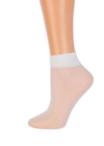 Женские носки в мелкую сетку с волнистой резинкой TM GIULIA LRN-01 calzino