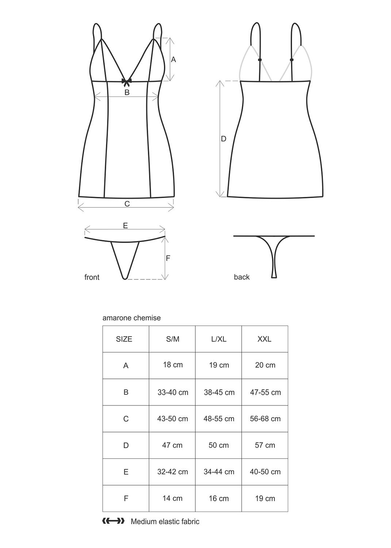 Эротическое белье Amarone chemise вид 4