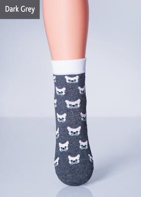 Детские носки меланж с котиком TM GIULIA KSL-012 MELANGE calzino