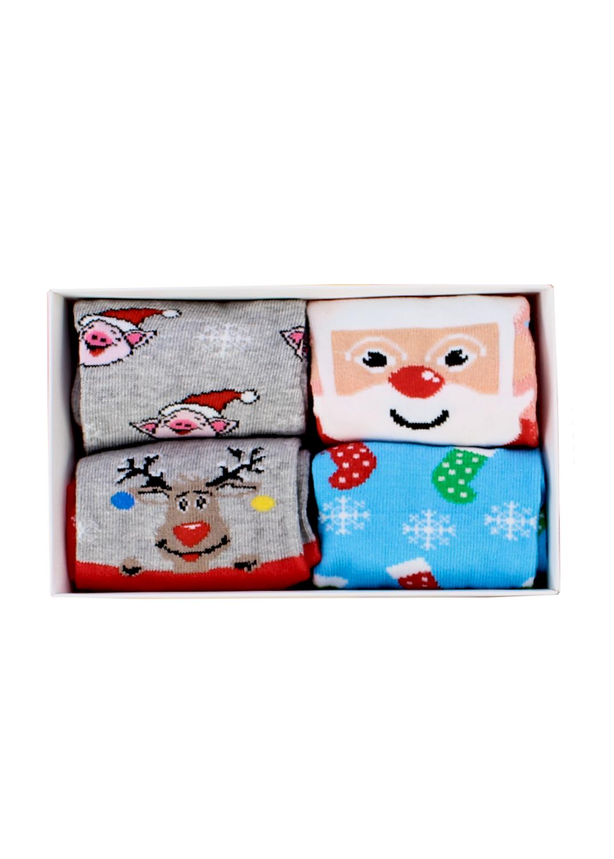 Носки женские носки 4 пары wsl new year's socks 02 box