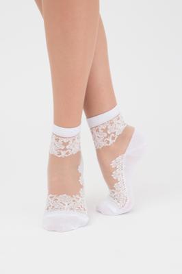 Жіночі шкарпетки прозорі з вишивкою TM GIULIA WSM-005 calzino