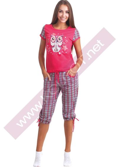 Домашняя одежда Домашний комплект жемпер + бриджи Night Owl 02304п- купить в Украине в магазине kolgot.net (фото 1)