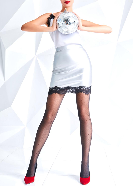 Колготки с рисунком Afina 40 model 3