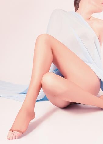 классические колготки с открытым носком ТМ GIULIA TOE 15