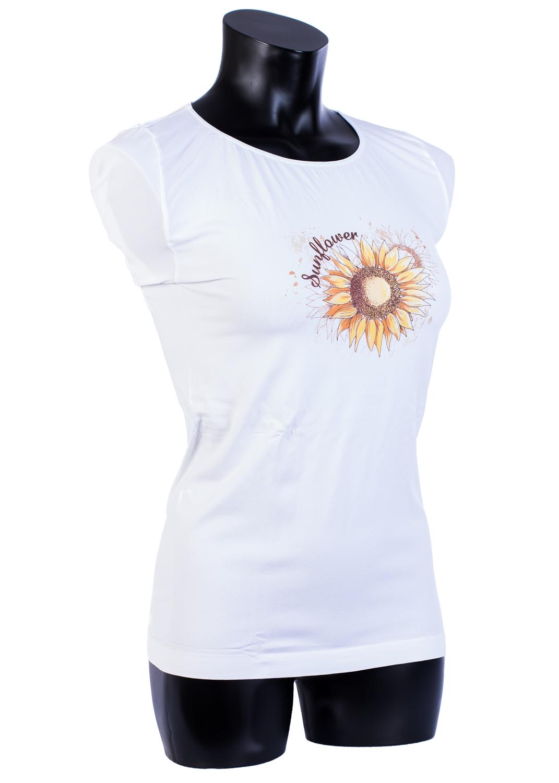 Футболки женские T-shirt s/t manica corta light print p0037