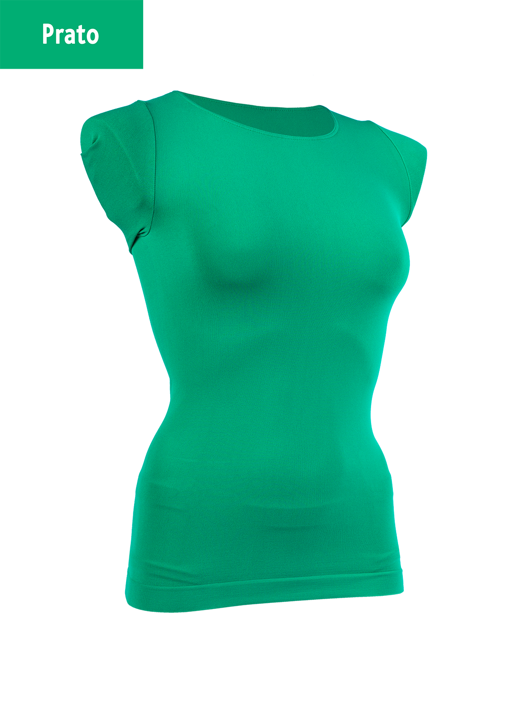 Футболки женские T-shirt scollo tondo manica corta вид 15