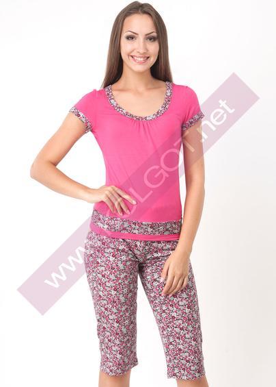 Одежда для дома и отдыха Домашний комплект джемпер+бриджи Flowers 01801- купить в Украине в магазине kolgot.net (фото 1)