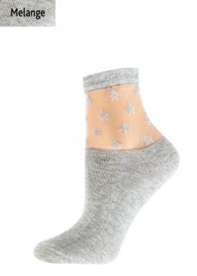 Жіночі шкарпетки із зірочками TM GIULIA WSM-006 melange calzino