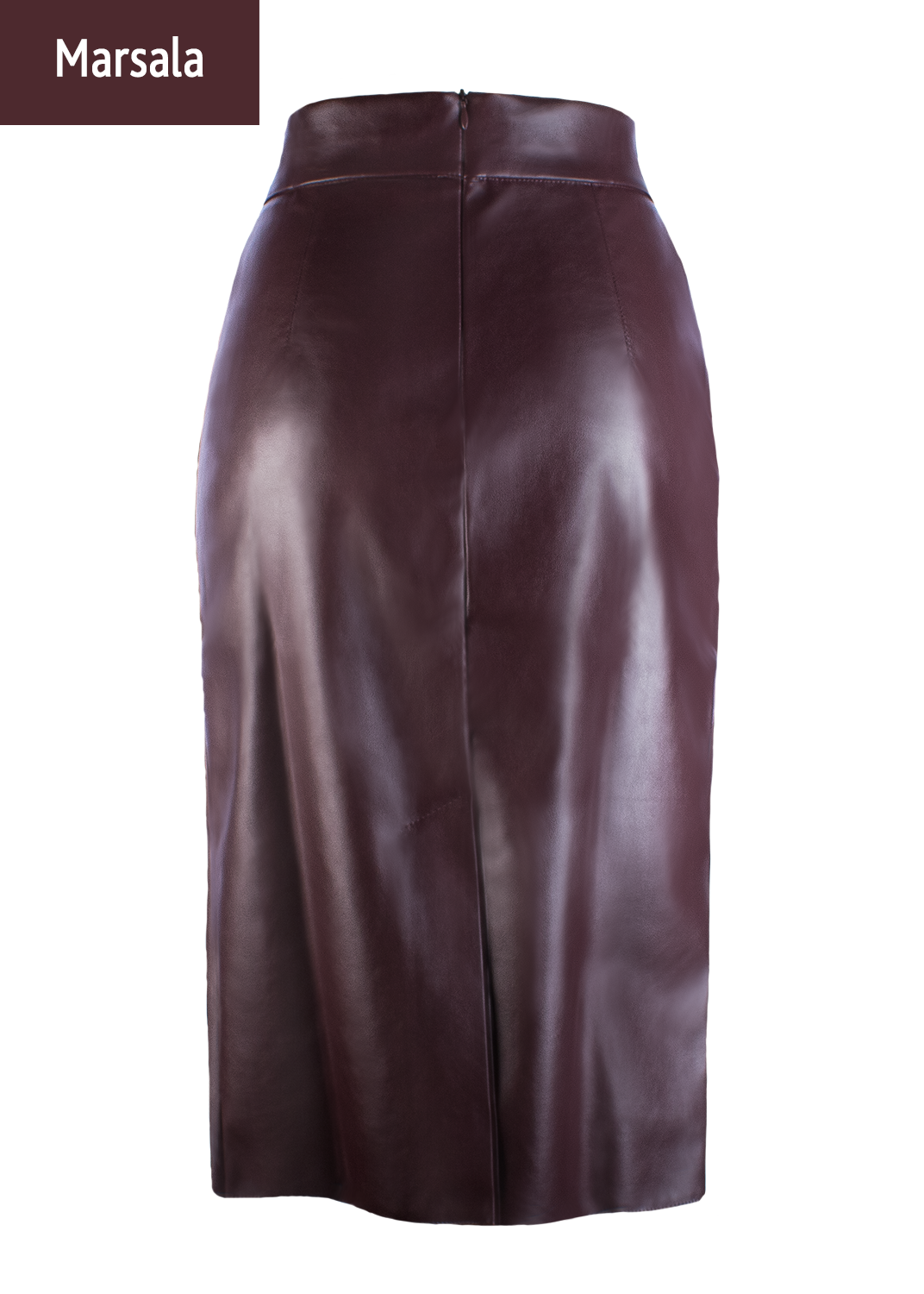 Юбки Pencil skirt leather model 1 вид 1