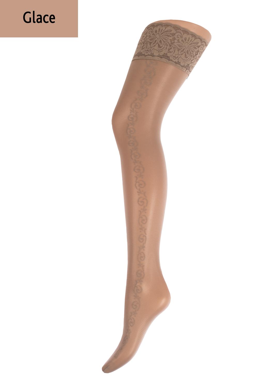 Чулки с рисунком Allure 20 model 5 вид 5