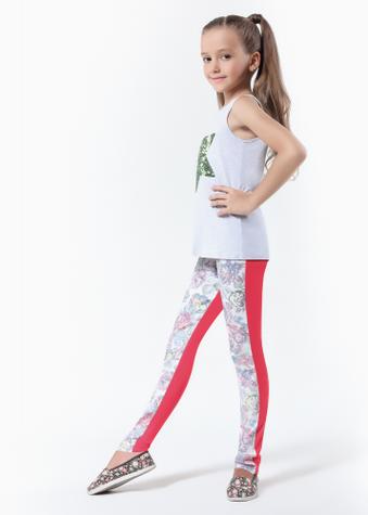 Детские Леггинсы с принтованными вставками ТМ GIULIA BLOOM TEEN GIRL