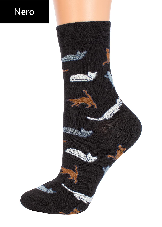 Носки женские носки с кошкам и котами cl-07 вид 2