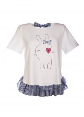 Домашняя футболка с бантом ТМ Giulia Milly 48/408/010