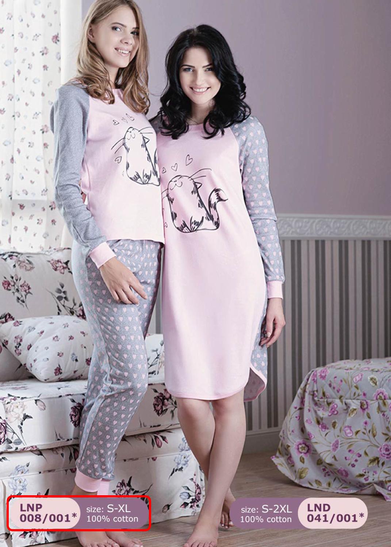 Домашняя одежда женская пижама lnp 008/001