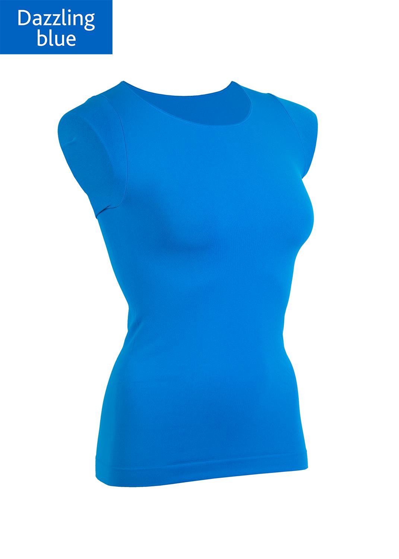 Футболки женские T-shirt scollo tondo manica corta вид 14