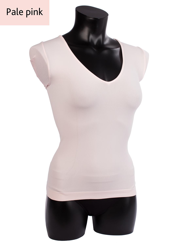 Футболки женские T-shirt scollo v manica corta вид 4