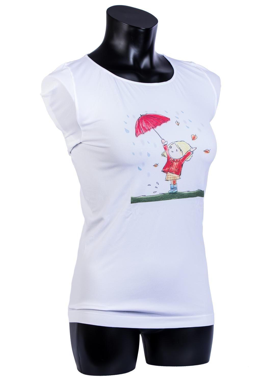 Футболки женские T-shirt s/t manica corta light print p0025