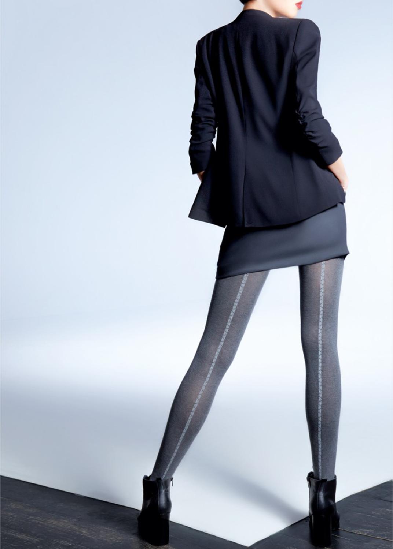 Теплые колготки Naomi melange 150 model 4