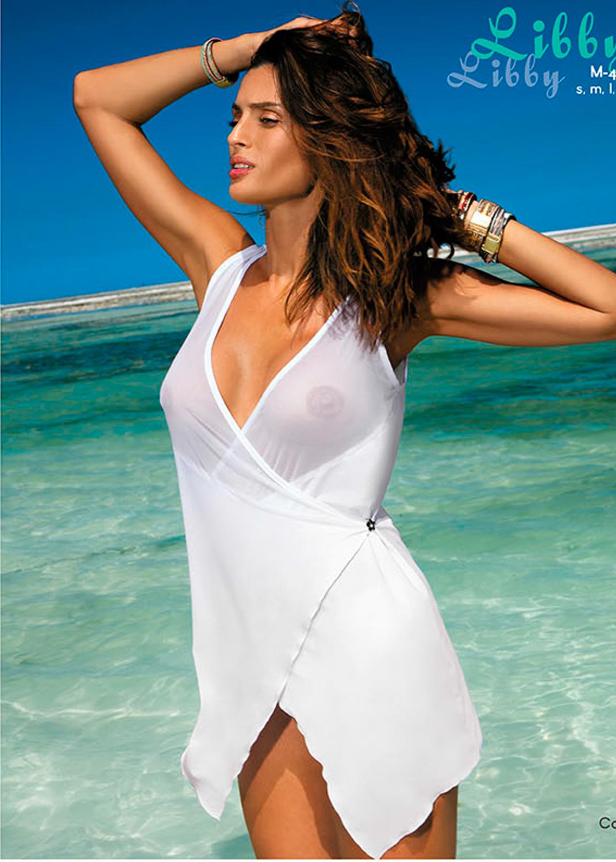 Пляжная одежда платье-халат 413 libby