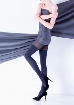 Колготки с высоким содержанием хлопка и имитацией ботфорт TM Giulia VOYAGE UP 180