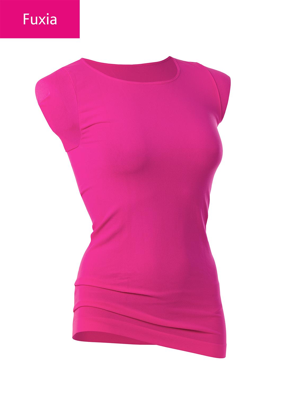Футболки женские T-shirt scollo tondo manica corta вид 10
