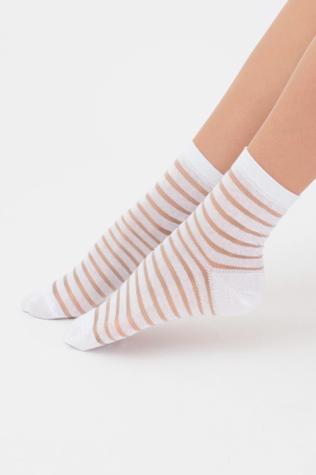 Классические женские носки в прозрачную полосочку TM GIULIA WSM-002 calzino
