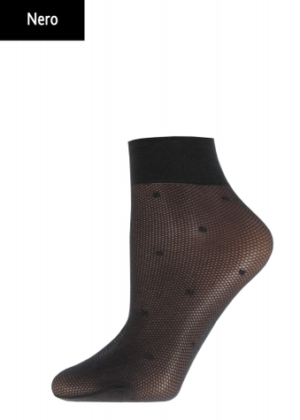 Женские носки с имитацией сетки в горох TM GIULIA RN-02 calzino
